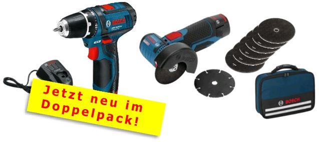 bosch akkuschrauber gsr 10 8 2 li winkelschleifer gws 10. Black Bedroom Furniture Sets. Home Design Ideas