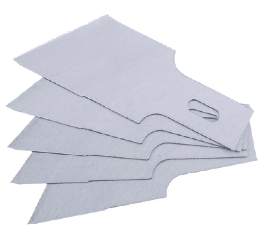 5-tlg Ersatz-Messer f/ür Schaber | 0,6 x 12 mm BGS 364-12 364 Ersatz-Schaberklingen f/ür Art