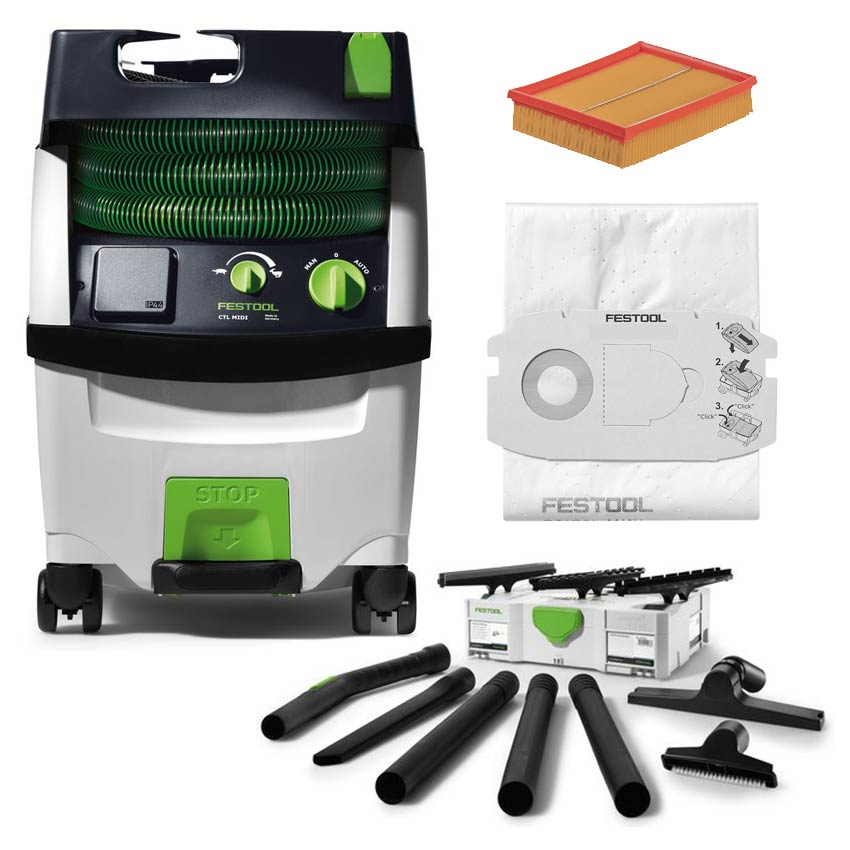 festool festo absaugmobil staubsauger ctl midi cleantec 230v 584159. Black Bedroom Furniture Sets. Home Design Ideas