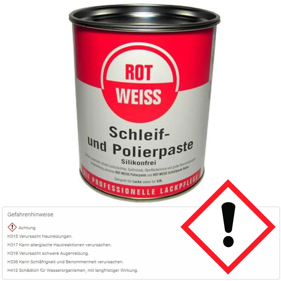 rotweiss schleif und polierpaste politurpaste silikonfrei 750 ml dose 5100 politur. Black Bedroom Furniture Sets. Home Design Ideas