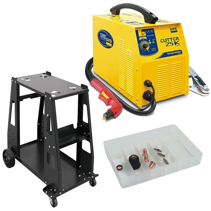 gys plasma cutter 25 k 25k mit kompressor brenner. Black Bedroom Furniture Sets. Home Design Ideas