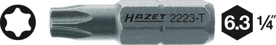 1//4 Zoll Innen TORX Profil T30 Bit HAZET Bit 2223-T30 Sechskant massiv 6,3