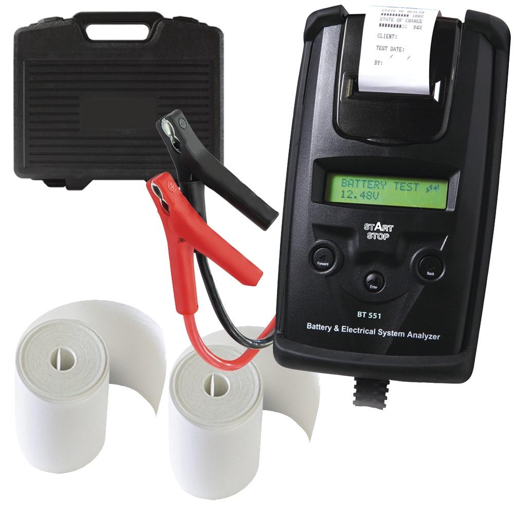 imprimante GYS BT 551 DHC Batterie testeur start//stop 6//12v 230 Ah Incl