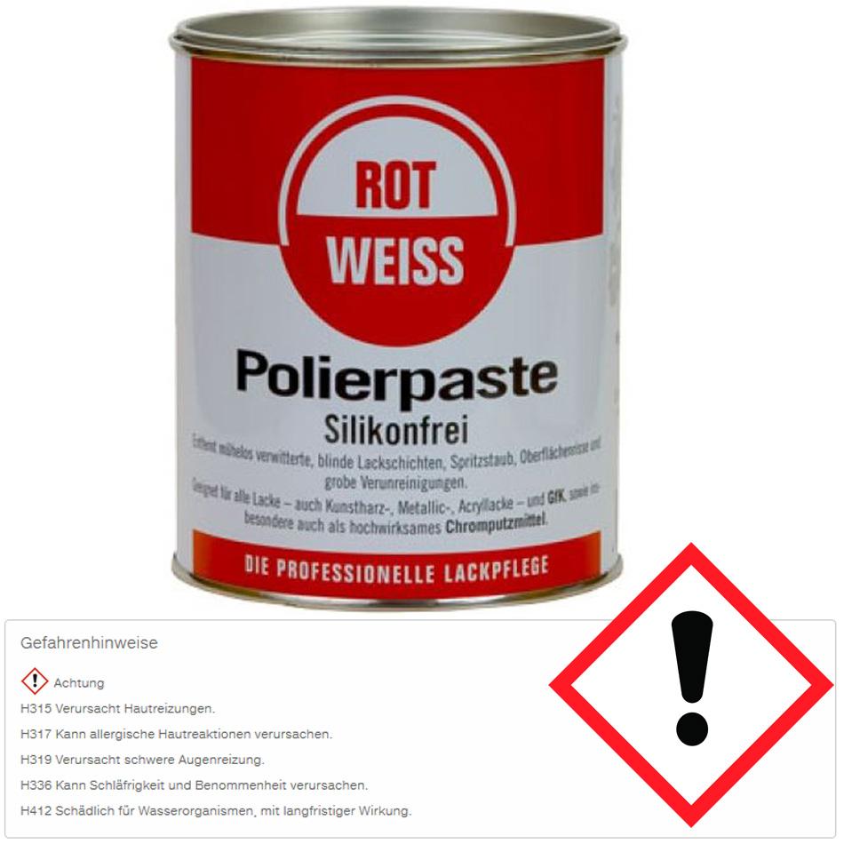 rotweiss polierpaste kunstharz 750ml 1000 profi schwamm ebay. Black Bedroom Furniture Sets. Home Design Ideas
