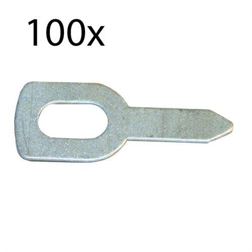 15mm x 2mm Gerade Edelstahl Rundschaft Ruten Stäbe für Auto Spielzeug 50 Stk
